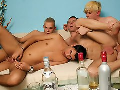 After their intense blowjob session, these white men are ready to go...