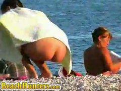 Miss on a nude beach...