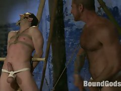 Nick Moretti ties up and bangs Jason Miller's ass Japanese style....
