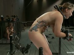Peyton is royally fucked when locked into place and at the disposal...