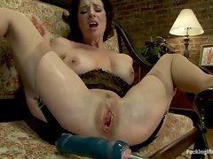 Hot Squirting MILF machine fucked until multiple jet stream orgasms...