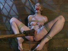 Ivy Mokhov LOVES severe Bamboo bondage...