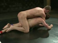 Ripped Zach Alexander dominates Tucker Scott with his huge cock....