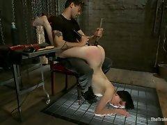 Hot slave slut get used and whipped hard...
