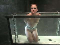 Sexy girl is bound, fucked, dunked and sprayed....