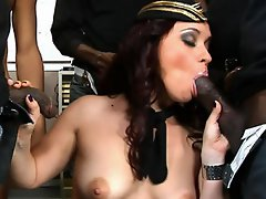 Welcome to America Olga, here are four BODACIOUS BLACK COCKS for you...