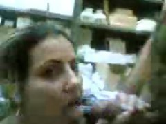 Arab Mature women suck in the shop
