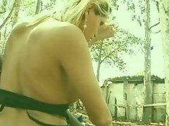 Biker fun with a blonde TS