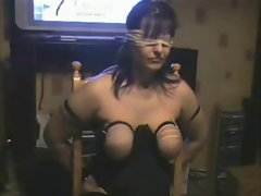 Whipping tits of my submissive whore. Amateur