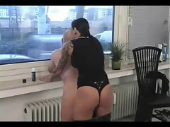 sexy domina fucking the guy in front of the window... enjoy