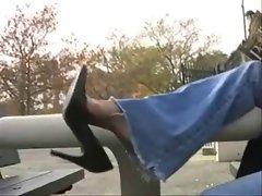 shoe dangle in park
