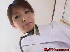 Ann Nanba Lovely Asian nurse shows off