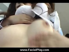 Japanese Babes Covered in Hot Facial Cum 01