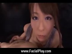 Japanese Babes Covered in Hot Facial Cum 02