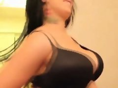 Hot alt babe with big tits sucking cock