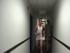 Gay freshers stripping in public