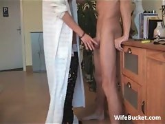 MILF wife loves mouth fucking