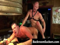 Muff diver Bum Bashing in his Back Room gay sex