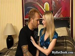 Beautiful Aimee Addison takes her new boyfriend up