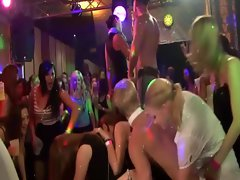 Horny people go crazy at the sexy party with strippers