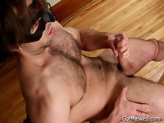 Hairy pierced guy jerking off his cock gay boys