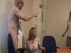 Horny couple gets caught and pair becomes threesome