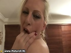 Naturally horny mature blonde loves