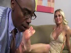 Toe licking fetish cock