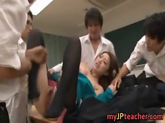 Ai Haneda sexy Japanese teacher has sex