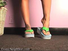 Lexi Lapetina Flip Flop Tease