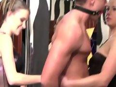 Kinky sluts command him to fuck them