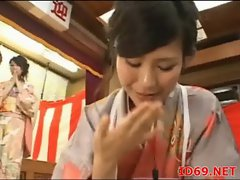 Japanese AV Model has her pussy touched