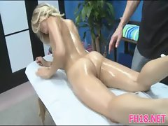 Gorgeous 18 year old cutie gets a massage