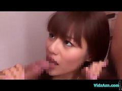 Asian Girl In Skirt Squirting While Fingered By 2 Guys Sucking Their Cocks In The Sitting Room