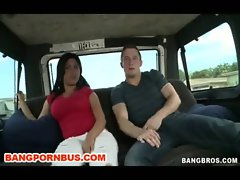 Latina Fucks On The BangBus Outdoor Reality for Money