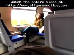 Masturbating In German Train  german ggg spritzen goo girls