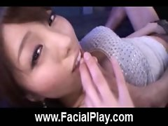 Cute Japanese Babes Nasty Facial Cumshots  21