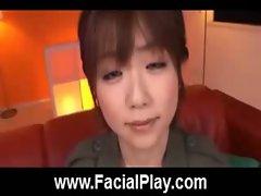 Cute Japanese Babes Nasty Facial Cumshots  12