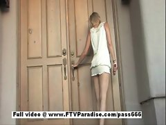 Awesome girl Liz angelic light-haired girl toying pussy