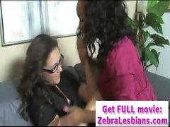 Ebony Lesbo Babes Strap-On Fuck - Zebra Girls 25