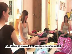 Pepper stunning redhead petite teen girl trying lingerie
