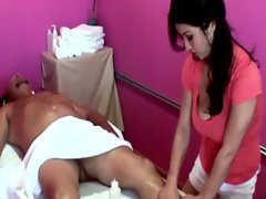 Asian masseuse seduces client into sex