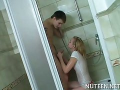 Cock sucking and brutal sex