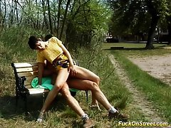 Street young lady gets dick
