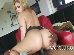Young woman gets butt cumcovered