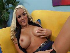 Sensual blondie Briana Blair banged nice