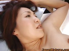 Alluring sensual japanese aged dirty ladies stroking