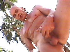 Outdoor twinks pool masturbation