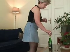 Slutty mom In Nylon Stockings