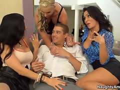 Raunchy America cheating wives filthy foursome